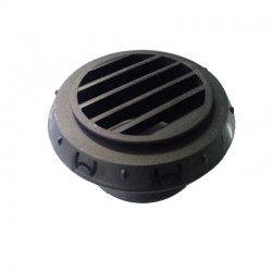 Threaded Black Grille Outlet for hot air ducting 45°
